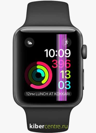 Разбитый дисплей Apple Watch