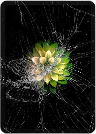 Треснутый экран на iPad