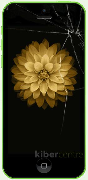 Треснутое стекло на iPhone 5с