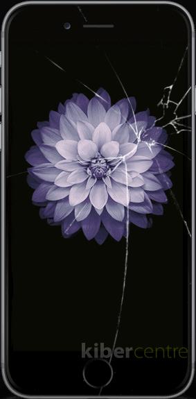 Треснутое стекло на iPhone 6