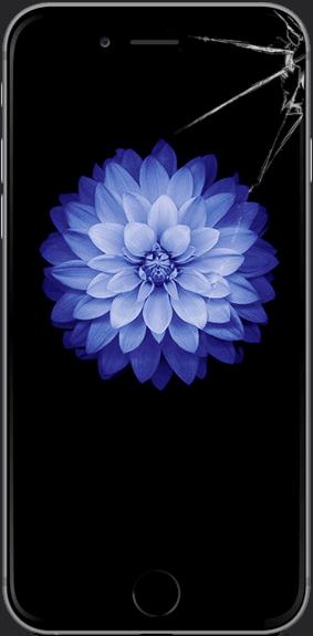 Треснутое стекло на iPhone 6 Plus