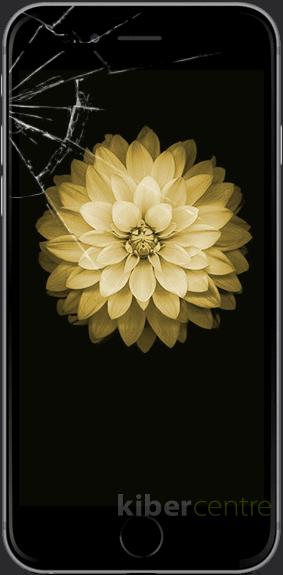 Треснутое стекло на iPhone 6S