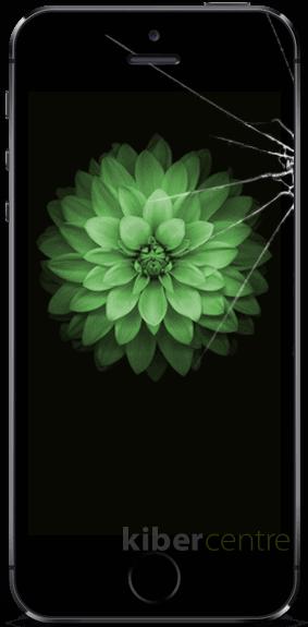Треснутое стекло на iPhone SE