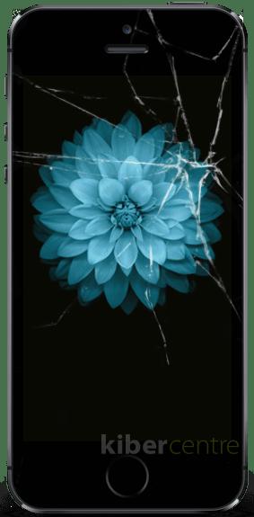Треснутое стекло на iPhone 5s