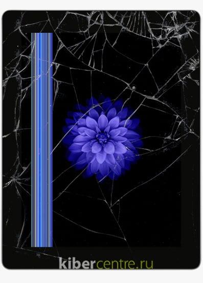 Разбитый дисплей iPad 4