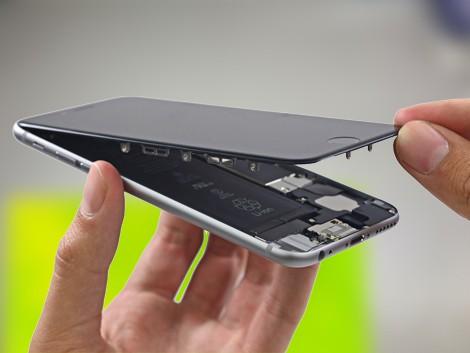 Снятие экрана с корпуса iPhone 6   KiberCentre