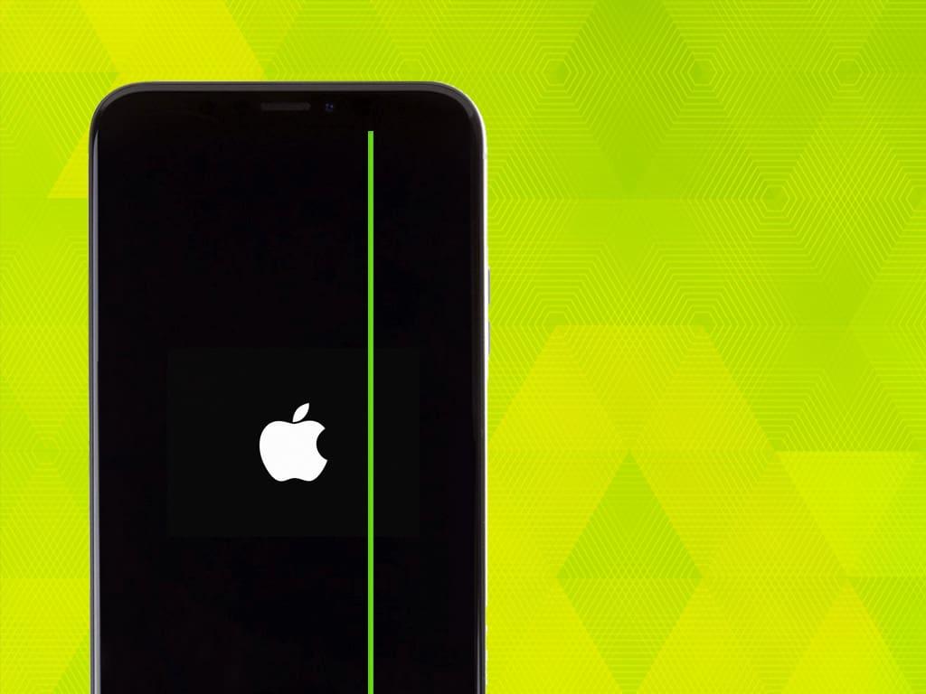 Зеленая полоса на дисплее | KiberCentre.ru