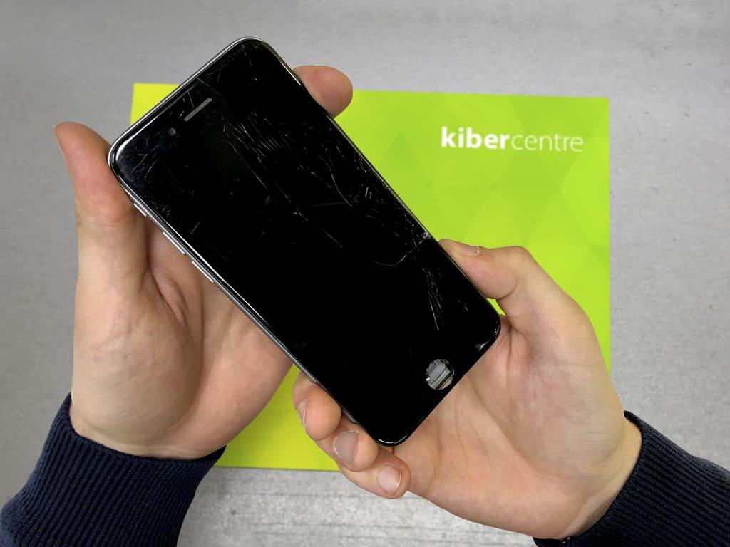Разбитый дисплей iPhone 6s | KiberCentre.ru