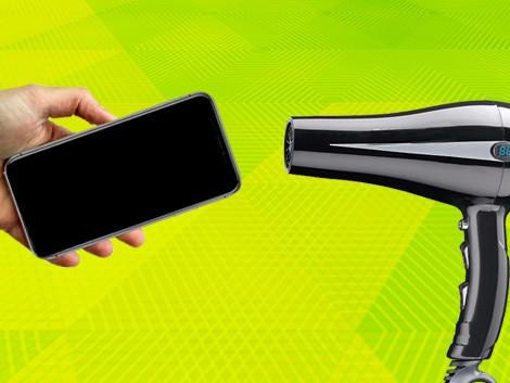 Фен сушит iPhone