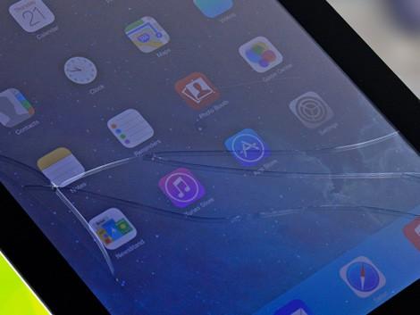 Треснутое стекло на iPad 4
