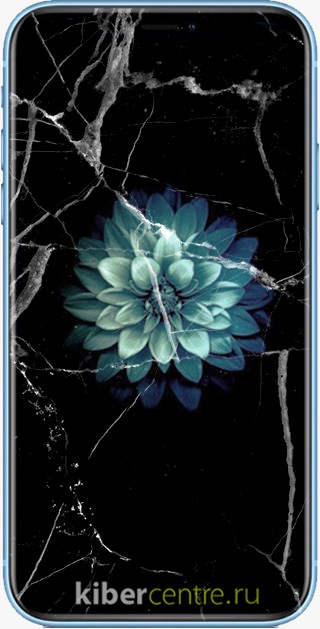 Треснутое стекло iPhone XR