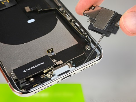 Удаление динамика iPhone X