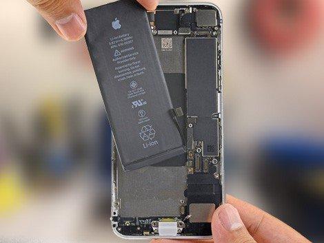 Установка батареи IPhone 8