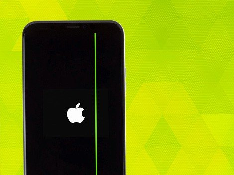 Полоса на дисплее iPhone X