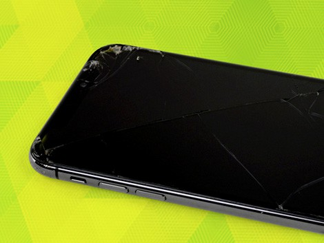 Разбитое стекло iPhone X