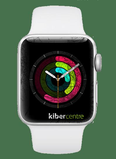 Разбитое стекло на Apple Watch