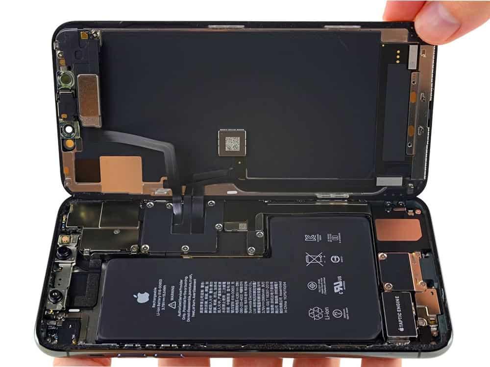 Откинутый дисплей айфон 11