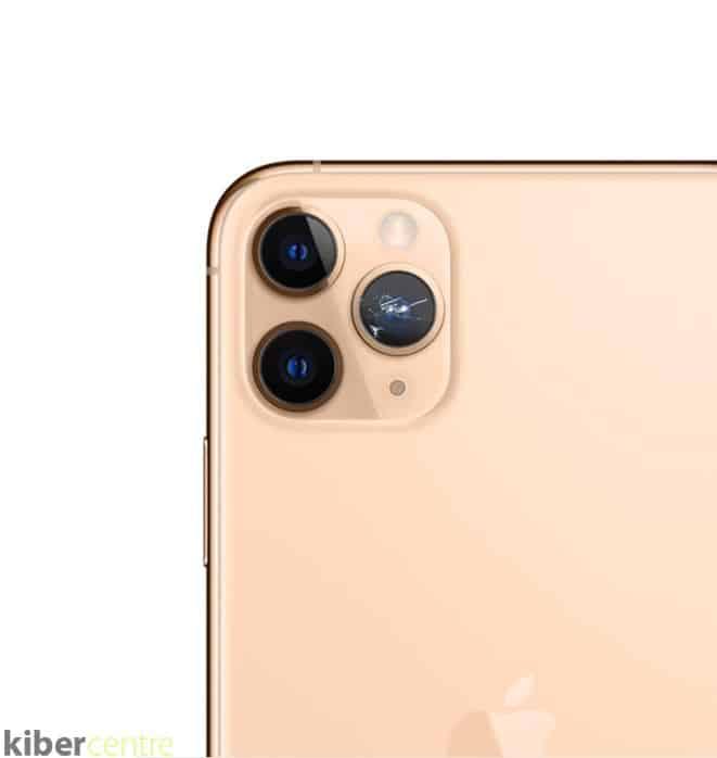 Разбитая камера Айфон 11 про