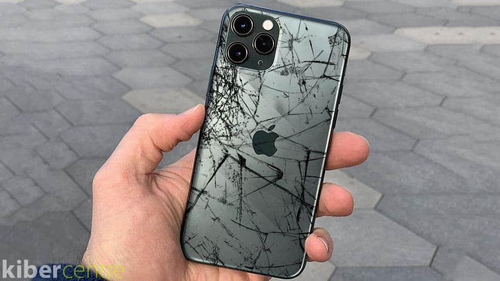 Разбитый корпус айфон 11 про
