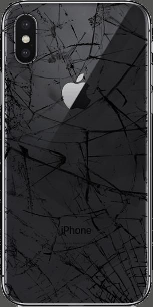 Разбито заднее стекло на iPhone X